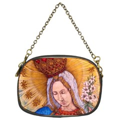 Immaculate Heart Of Virgin Mary Drawing Chain Purses (two Sides)  by KentChua