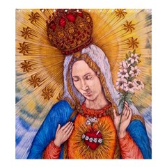 Immaculate Heart Of Virgin Mary Drawing Shower Curtain 66  X 72  (large)  by KentChua