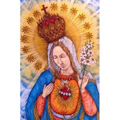 Immaculate Heart Of Virgin Mary Drawing 5 5  X 8 5  Notebooks by KentChua