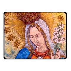 Immaculate Heart Of Virgin Mary Drawing Fleece Blanket (small) by KentChua
