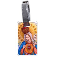 Immaculate Heart Of Virgin Mary Drawing Luggage Tags (two Sides) by KentChua