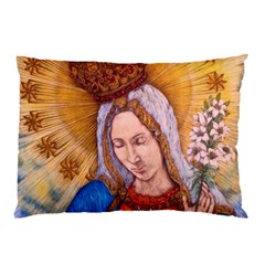 Immaculate Heart Of Virgin Mary Drawing Pillow Cases (two Sides) by KentChua