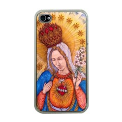 Immaculate Heart Of Virgin Mary Drawing Apple Iphone 4 Case (clear) by KentChua