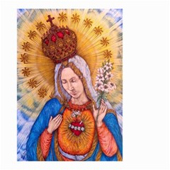 Immaculate Heart Of Virgin Mary Drawing Small Garden Flag (two Sides) by KentChua