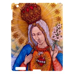 Immaculate Heart Of Virgin Mary Drawing Apple Ipad 3/4 Hardshell Case by KentChua