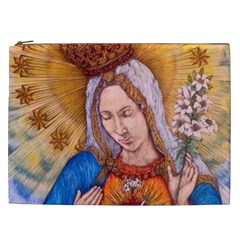 Immaculate Heart Of Virgin Mary Drawing Cosmetic Bag (xxl)  by KentChua