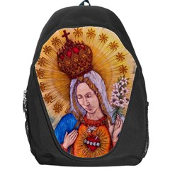 Immaculate Heart Of Virgin Mary Drawing Backpack Bag by KentChua