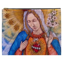 Immaculate Heart Of Virgin Mary Drawing Cosmetic Bag (xxxl)  by KentChua