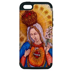 Immaculate Heart Of Virgin Mary Drawing Apple Iphone 5 Hardshell Case (pc+silicone) by KentChua