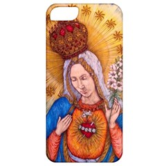 Immaculate Heart Of Virgin Mary Drawing Apple Iphone 5 Classic Hardshell Case by KentChua