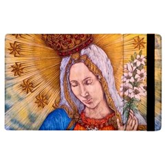 Immaculate Heart Of Virgin Mary Drawing Apple Ipad 3/4 Flip Case by KentChua