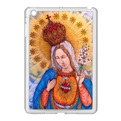 Immaculate Heart Of Virgin Mary Drawing Apple Ipad Mini Case (white) by KentChua