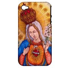 Immaculate Heart Of Virgin Mary Drawing Apple Iphone 4/4s Hardshell Case (pc+silicone) by KentChua
