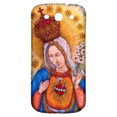 Immaculate Heart Of Virgin Mary Drawing Samsung Galaxy S3 S Iii Classic Hardshell Back Case by KentChua