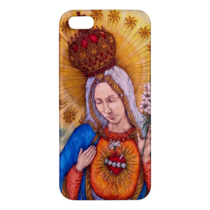 Immaculate Heart Of Virgin Mary Drawing Apple iPhone 5 Premium Hardshell Case