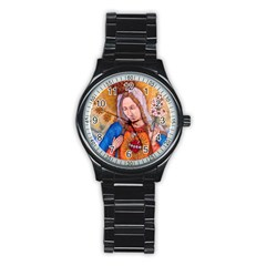 Immaculate Heart Of Virgin Mary Drawing Stainless Steel Round Watches by KentChua
