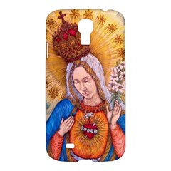 Immaculate Heart Of Virgin Mary Drawing Samsung Galaxy S4 I9500/i9505 Hardshell Case by KentChua