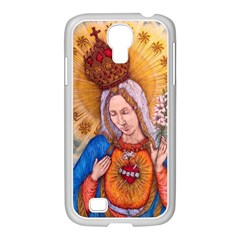 Immaculate Heart Of Virgin Mary Drawing Samsung Galaxy S4 I9500/ I9505 Case (white) by KentChua