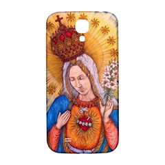 Immaculate Heart Of Virgin Mary Drawing Samsung Galaxy S4 I9500/i9505  Hardshell Back Case by KentChua