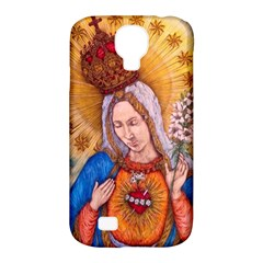 Immaculate Heart Of Virgin Mary Drawing Samsung Galaxy S4 Classic Hardshell Case (pc+silicone) by KentChua