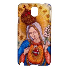 Immaculate Heart Of Virgin Mary Drawing Samsung Galaxy Note 3 N9005 Hardshell Case by KentChua