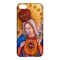 Immaculate Heart Of Virgin Mary Drawing Apple Iphone 5c Hardshell Case by KentChua