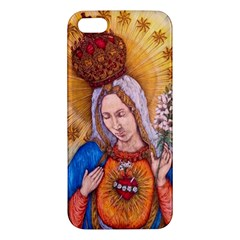 Immaculate Heart Of Virgin Mary Drawing Iphone 5s Premium Hardshell Case by KentChua