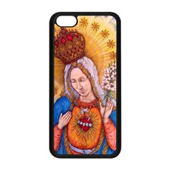 Immaculate Heart Of Virgin Mary Drawing Apple Iphone 5c Seamless Case (black) by KentChua