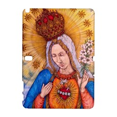 Immaculate Heart Of Virgin Mary Drawing Samsung Galaxy Note 10 1 (p600) Hardshell Case by KentChua