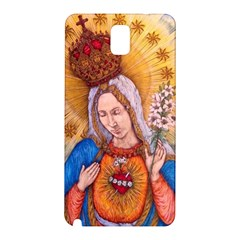 Immaculate Heart Of Virgin Mary Drawing Samsung Galaxy Note 3 N9005 Hardshell Back Case by KentChua