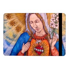 Immaculate Heart Of Virgin Mary Drawing Samsung Galaxy Tab Pro 10 1  Flip Case by KentChua