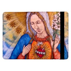 Immaculate Heart Of Virgin Mary Drawing Samsung Galaxy Tab Pro 12 2  Flip Case by KentChua