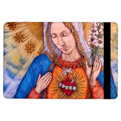 Immaculate Heart Of Virgin Mary Drawing Ipad Air Flip by KentChua