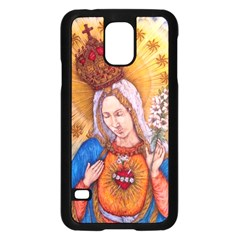 Immaculate Heart Of Virgin Mary Drawing Samsung Galaxy S5 Case (black) by KentChua