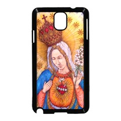 Immaculate Heart Of Virgin Mary Drawing Samsung Galaxy Note 3 Neo Hardshell Case (black) by KentChua