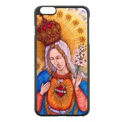 Immaculate Heart Of Virgin Mary Drawing Apple Iphone 6 Plus/6s Plus Black Enamel Case by KentChua