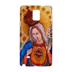 Immaculate Heart Of Virgin Mary Drawing Samsung Galaxy Note 4 Hardshell Case by KentChua