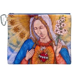 Immaculate Heart Of Virgin Mary Drawing Canvas Cosmetic Bag (XXXL)  by KentChua