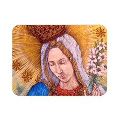 Immaculate Heart Of Virgin Mary Drawing Double Sided Flano Blanket (mini)  by KentChua
