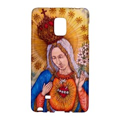 Immaculate Heart Of Virgin Mary Drawing Galaxy Note Edge by KentChua