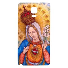 Immaculate Heart Of Virgin Mary Drawing Galaxy Note 4 Back Case by KentChua