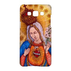 Immaculate Heart Of Virgin Mary Drawing Samsung Galaxy A5 Hardshell Case  by KentChua