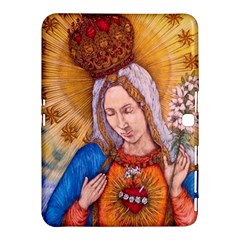 Immaculate Heart Of Virgin Mary Drawing Samsung Galaxy Tab 4 (10 1 ) Hardshell Case  by KentChua