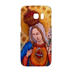 Immaculate Heart Of Virgin Mary Drawing Galaxy S6 Edge by KentChua