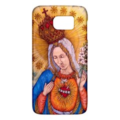 Immaculate Heart Of Virgin Mary Drawing Galaxy S6 by KentChua
