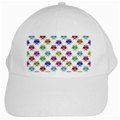 Fantasy Angry Birds Drawings Pattern White Cap by dflcprints