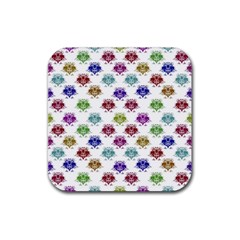 Fantasy Angry Birds Drawings Pattern Rubber Coaster (square)  by dflcprints