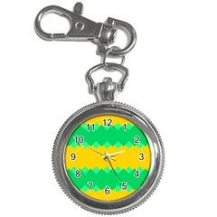 Green Rhombus Chains 			key Chain Watch by LalyLauraFLM