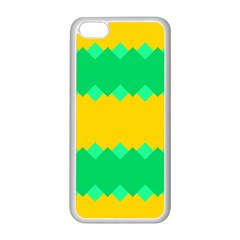 Green Rhombus Chains apple Iphone 5c Seamless Case (white) by LalyLauraFLM