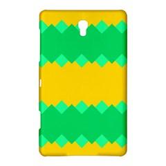 Green Rhombus Chains samsung Galaxy Tab S (8 4 ) Hardshell Case by LalyLauraFLM